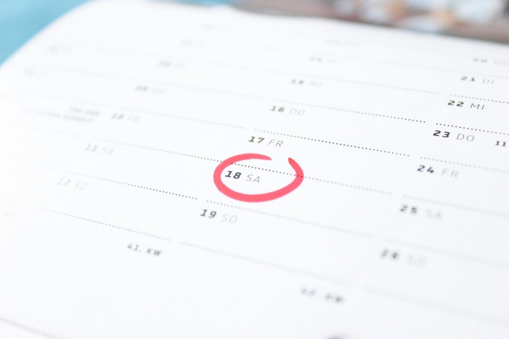 What's on the calendar? Why you need to create an editorial calendar. Image shows a date circled on a diary.