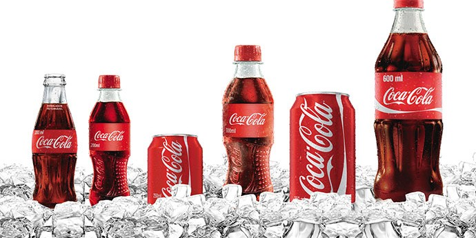 Coca Cola range line up