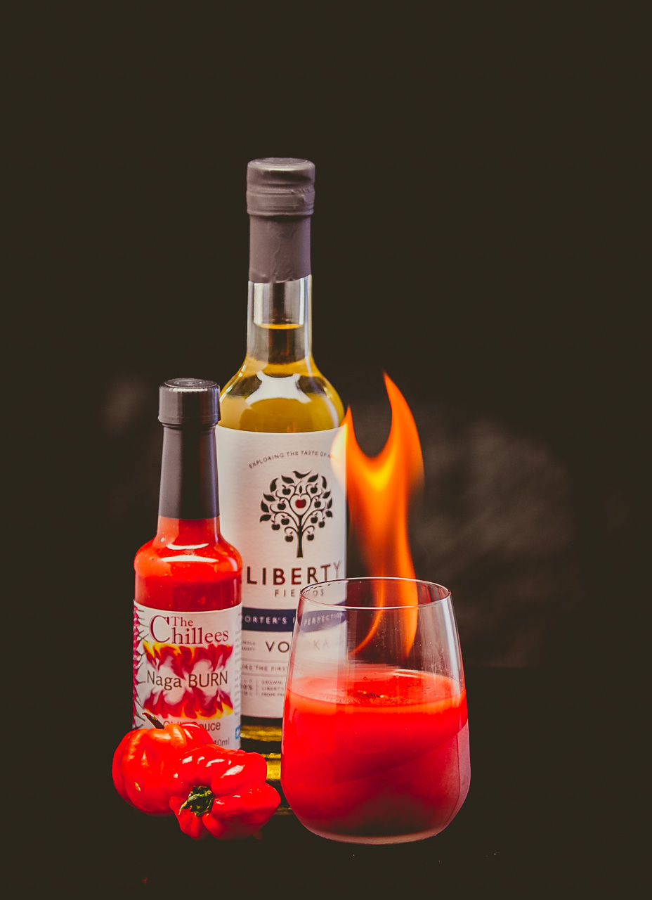 Fire, hot chilli sauce and cocktails by Richard Budd