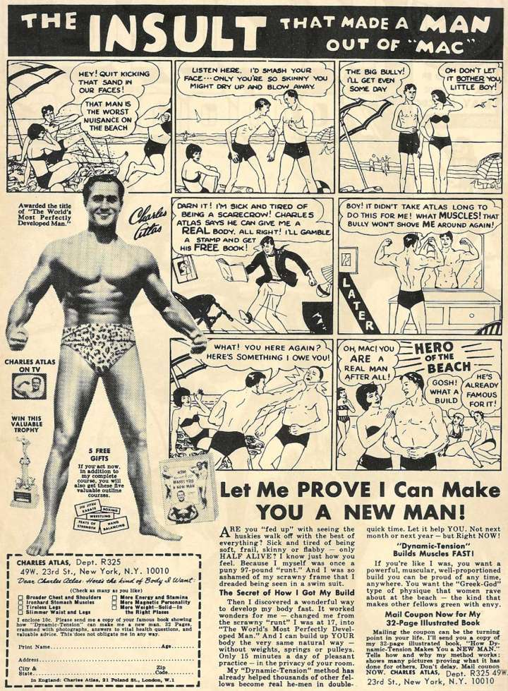 Charles Atlas Dynamic System - classic problem, agitate, solve content