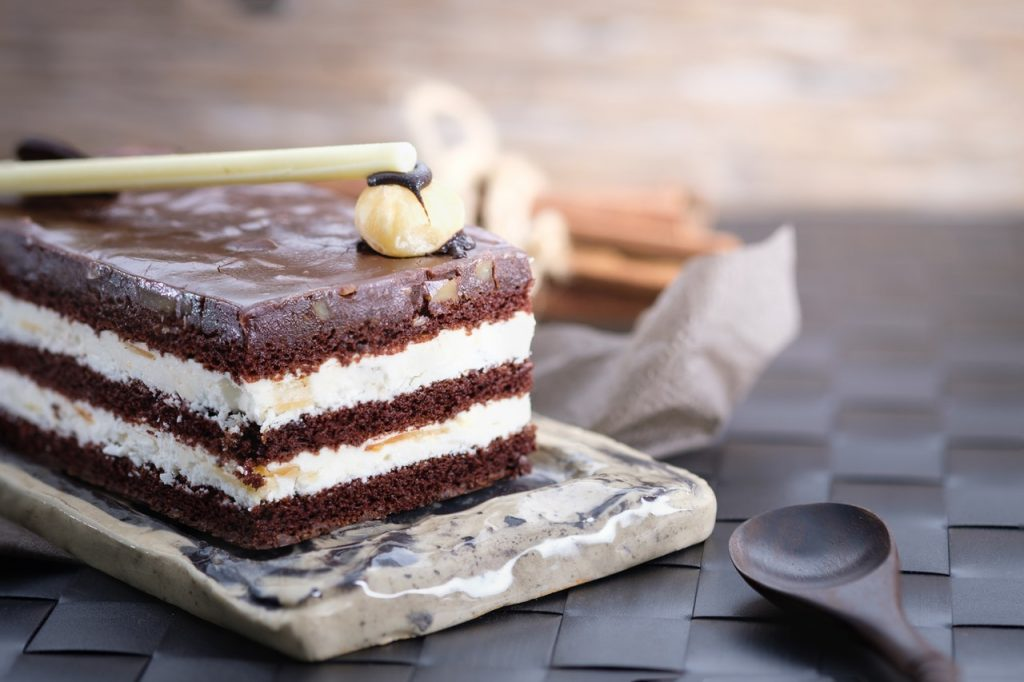 Show us your most fabulous cakes for National Cake Week. Shows a spectacular looking cream and chocolate cake.