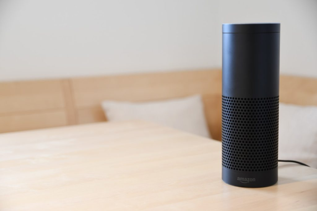 Is your content ready for voice searches? Image shows an Alexa speaker