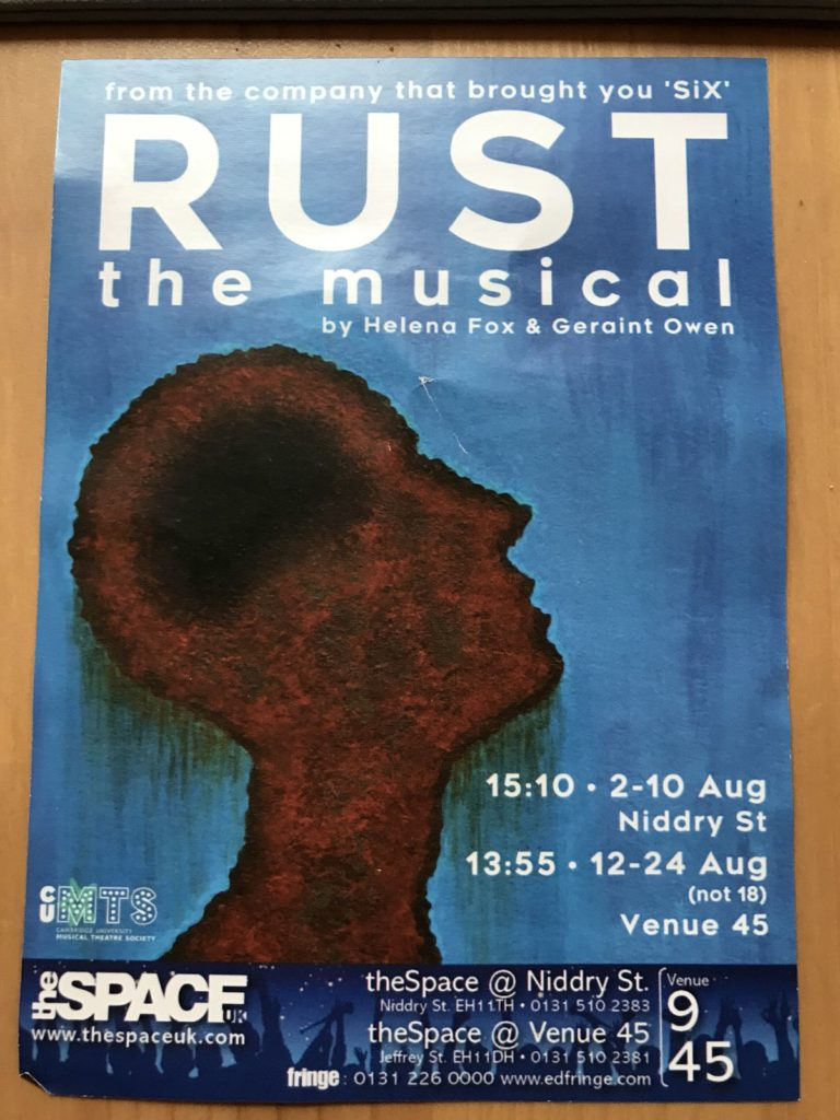 Thanks for the recommendation, we saw Rust the Musical