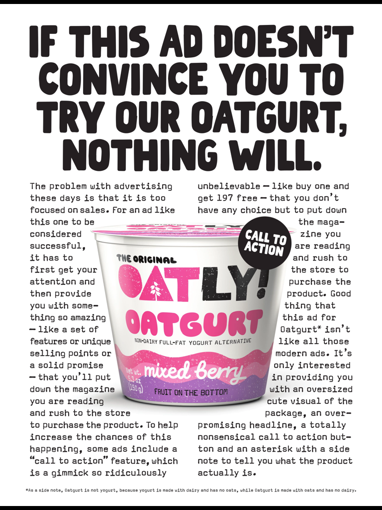 A previous Oatly marketing campaign