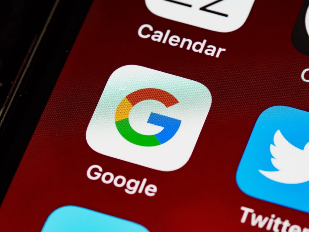 Image shows the Google icon and part of the Twitter icon